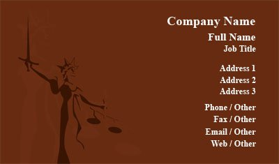 Lady Justice Business Card Template